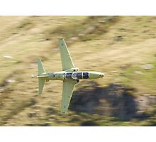 Hawk T2 in primer flying low past CAD West Photographic Print