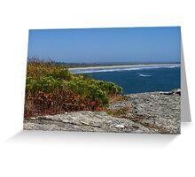 Atlantic Ocean from Purgatory Chasm Greeting Card