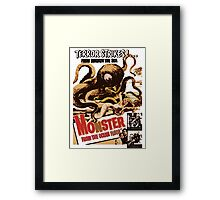 Vintage Sea Monster T-shirt Framed Print