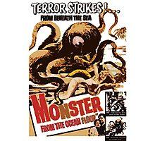 Vintage Sea Monster T-shirt Photographic Print