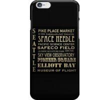 Seattle Washington Famous Landmarks iPhone Case/Skin