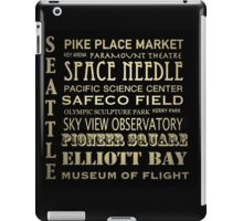 Seattle Washington Famous Landmarks iPad Case/Skin
