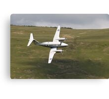 King Air 250 G-RAFP low flying and almost knife edge Canvas Print