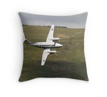 King Air 250 G-RAFP low flying and almost knife edge Throw Pillow