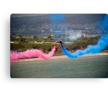 Red Arrows at Dawlish Airshow, August 2009 Canvas Print