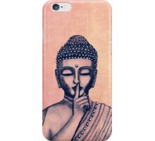 Buddha Shh... Do not disturb in Coral iPhone Case/Skin