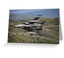 Underside shot of Panavia Tornado GR4 ZA452 Making a low pass of CAD East Greeting Card