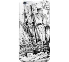Pirate Ship T-shirt iPhone Case/Skin