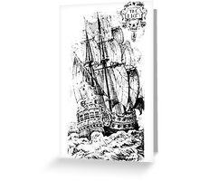 Pirate Ship T-shirt Greeting Card
