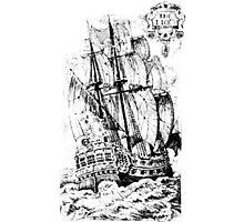 Pirate Ship T-shirt Photographic Print