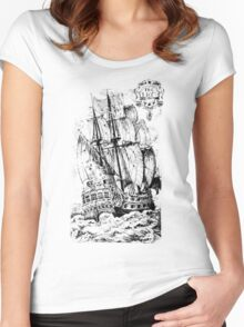 Pirate Ship T-shirt Women's Fitted Scoop T-Shirt