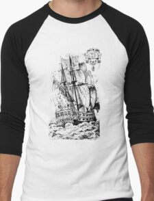 Pirate Ship T-shirt Men's Baseball ¾ T-Shirt