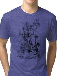 Pirate Ship T-shirt Tri-blend T-Shirt