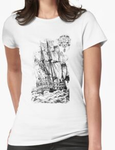Pirate Ship T-shirt Womens Fitted T-Shirt