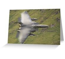 USAF F15 Strike Eagle - low and pulling vapour Greeting Card