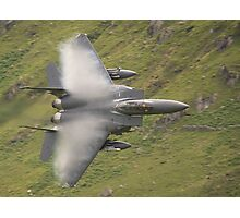 USAF F15 Strike Eagle - low and pulling vapour Photographic Print