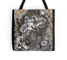She Was A Haunted House Tote Bag