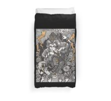 She Was A Haunted House Duvet Cover