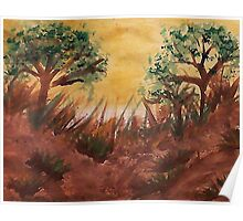 Hot Summers Day Series, #2 watercolor Poster