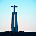 Statue of Christ overlooking Lisbon, Portugal by Steve