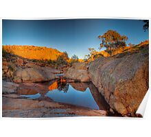 The Rock Pool - Mannum Falls, Murraylands, South Australia Poster