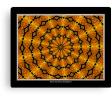 Marigolds Kaleidoscope #2 Canvas Print