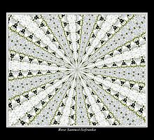 White Phlox Kaleidoscope #1 by Rose Santuci-Sofranko
