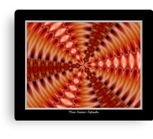 Lilies Kaleidoscope #2 Canvas Print