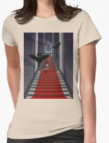 Gothic Stairs and Witch Womens Fitted T-Shirt