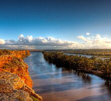 Cliffs, River, Backwater - The River Murray, South Australia by Mark Richards