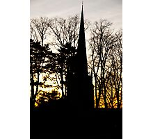 Sunset Church Leicestershire Photographic Print