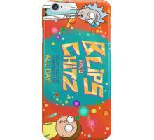 Rick N Morty Blips N Chitz iPhone Case/Skin