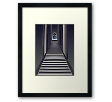 Gothic Stairs Interior Framed Print