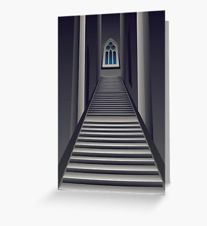 Gothic Stairs Interior Greeting Card