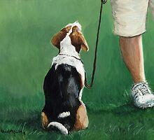 Beagle Sit by Charlotte Yealey