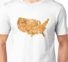 USA map in watercolor orange Unisex T-Shirt