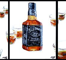 Don't Mix...Jack Daniel's...With Red Wine by Ken Eccles