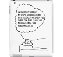 Sleeping with ADHD iPad Case/Skin
