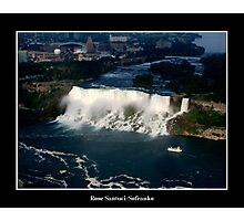 Niagara Falls/Maid of The Mist Boat - Aerial View Photographic Print