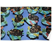Sea Turtles Cup Cakes Poster