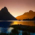 Milford &amp; Mitre Peak at Sunset by Odille Esmonde-Morgan