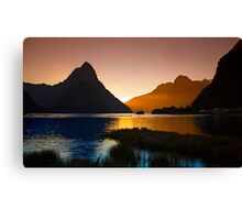 Milford & Mitre Peak at Sunset Canvas Print