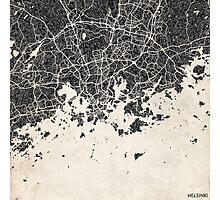 Helsinki map Photographic Print