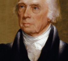 Portrait of President James Madison by Chester Harding (1830) Sticker