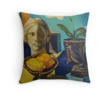 Bathed in Yellow Light Throw Pillow