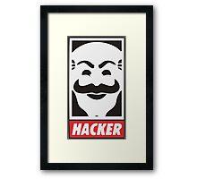 F Society Hacker (Mr.Robot) Framed Print