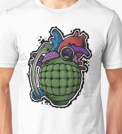 Heart Hand Grenade Unisex T-Shirt