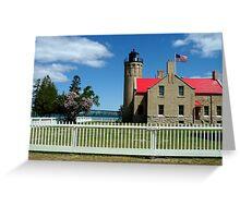 Mackinac's light giver Greeting Card