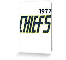 Vintage Slapshot Chiefs T-shirt Greeting Card