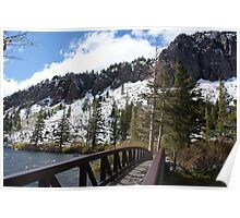 day at the mountain lakes Poster
